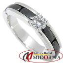 シャネル CHANEL ウルトラリング ダイヤモンド ブラックセラミック K18WG ホワイトゴールド J3095 11.5号 #52 指輪/09…