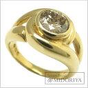 指輪 ブラウンダイヤモンド1.09ct 一粒ダイヤモンドリング 9号 K18YG/62947【中古】