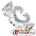 カルティエ Cハート リング フルダイヤモンド K18WG ホワイトゴールド B4043800 9.5号 #50 Cartier 指輪/092211【中古】