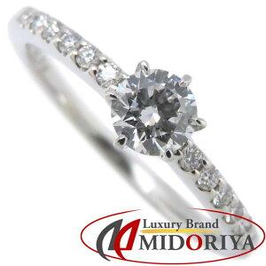 ロイヤルアッシャー ROYAL ASSCHER ダイヤモンドリング Pt950 プラチナ 11号 0.248ct/0.08ct エンゲージリング 指輪/092335【中古】