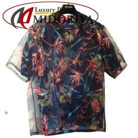 【ポイント20倍】ルイヴィトン LOUIS VUITTON ハワイアンリリーバンブー 半袖シャツ 1A413U ネイビー S /046549 【中古】