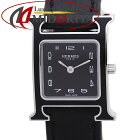 エルメス Hウォッチ PM HH1.221 W044936WW00 ブラックラッカー ヴォーバレニア レディース /37102 【中古】 腕時計