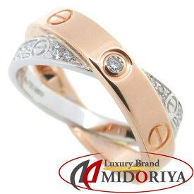 カルティエ Cartier ビーラブ リング ダイヤモンド K18PGxWG B4094600 #50 10号 コンビカラー 指輪/093618【中古】