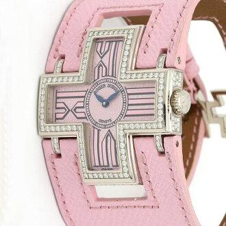 ロジェデュブイ F16850FD follow me diamond bezel WG pure x pink leather belt Lady's quartz /31558 ROGER DUBUIS