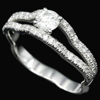 Authentic CHANEL 750 White Gold Camellia Engagement Diamond Ring Size 52 J3212 /90561