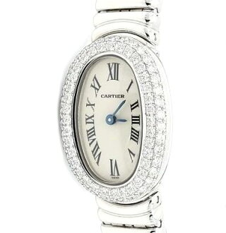 Cartier ミニベニュワール WG solid DIA Basel WB5095L2 ladies quartz / 31445 fs3gm