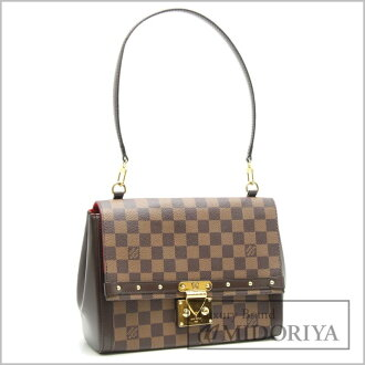 LOUIS VUITTON Damier Venice Shoulder Bag N41398 Ebene /18738