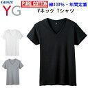 メール便発送 メンズ Vネック Tシャツ グンゼ ワイジー GUNZE YG V首 綿100% M-3L 3color 半袖 メンズ下着 紳士 肌着 耐久柔軟 抗菌防臭加工 立体設計 コットン100%