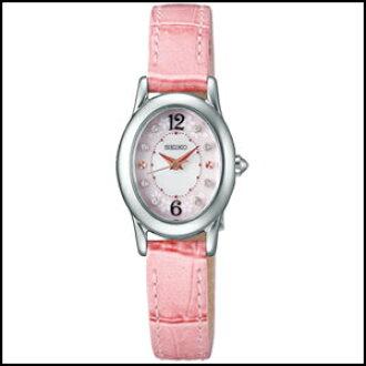 新貨即日發送精工挑選SAKURA Blooming 2018限定型號太陽能鐘表女士手錶SWFA173