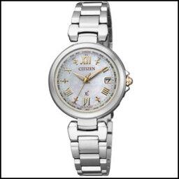 西鐵城居民交叉海HAPPY FLIGHT太陽能電波鐘表女士手錶EC1035-56W