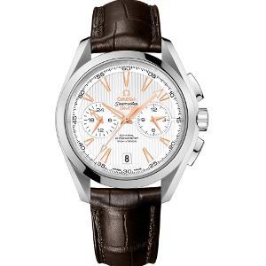 新品 即日発送可 オメガ シーマスター アクアテラ クロノグラフ GMT アリゲーターレザー 自動巻き 時計 メンズ 腕時計 231.13.43.52.02.001