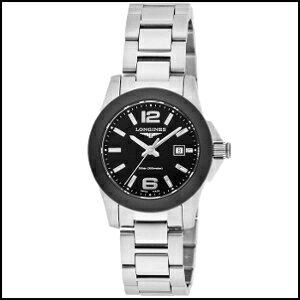 新品 即日発送 ロンジン Longines コンクエスト 300m防水 クオーツ 時計 レディース 腕時計 L3.257.4.56.6