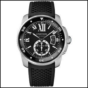 【担当の涙の在庫処分SALE】 カルティエ カリブル ドゥ カルティエ ダイバー 300m防水 自動巻き 時計 メンズ 腕時計 W7100056