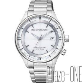 シチズン インディペンデント TIMELESS line ソーラー 電波 時計 メンズ 腕時計 KL8-619-11