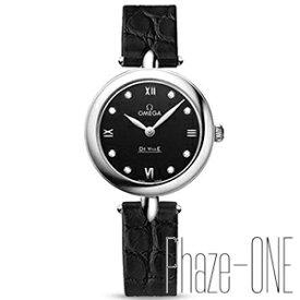 オメガ デビル プレステージ ダイヤ アリゲーターレザー クォーツ レディース 腕時計 424.13.27.60.52.001
