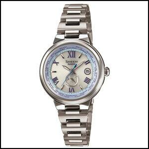 新品 即日発送 CASIO カシオ シーン ボヤージュシリーズ ソーラー 電波 時計 レディース 腕時計 SHW-1509D-7A2JF