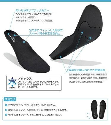 【ポイント2倍】インソールフラットタイプメタックス