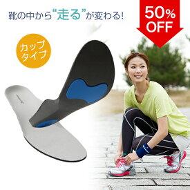 【50%OFF】 ファイテン インソール カップタイプ  足裏の形状にぴったりフィット。衝撃を吸収し、安定性が向上する中敷。