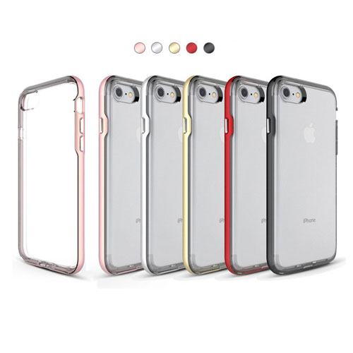 iphone x ケース iphone8 ケース iphone8 plus iphone 7 ケース iphone7 plus ハードケース 透明ケース バンパーケース スタイリッシュ ポイントカラー スリムフィット クリアケース シンプル オシャレ デイリー・バンパーケース daily bumper case