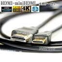 HDMI ケーブル HDMI -ミニHDMI端子 キヤノン HTC-100互換品 1.4規格対応 3.0m ・金メッキ端子 (イーサネット対応・…