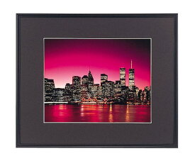 ワイドマットフレーム A3000 サイズ デジタルA4 フジカラー 写真用額縁 ブラック 高級感 210×297 アクリル板 A-3000 中枠付き