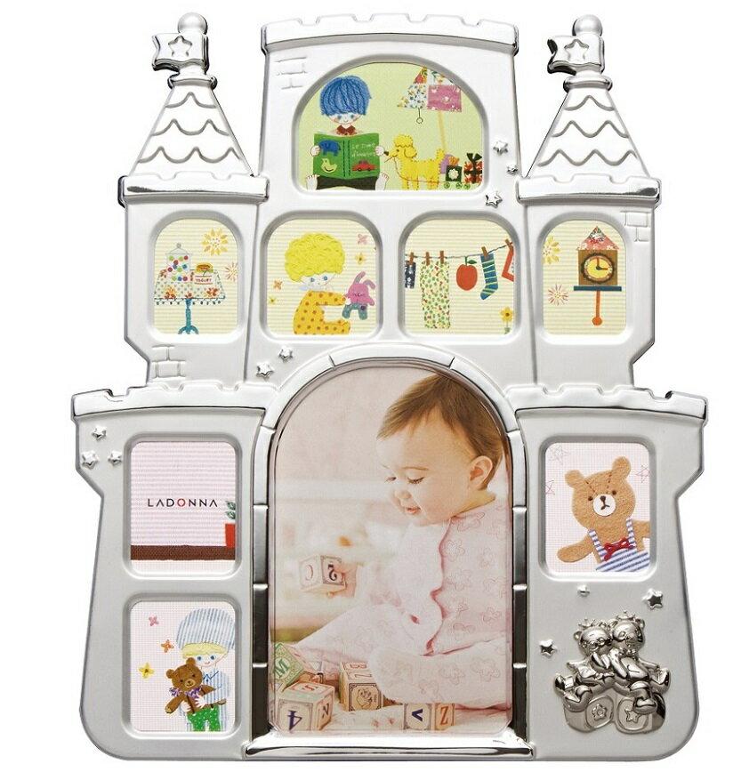 20%OFF フォトフレーム (はがき×1、ミニサイズ×8) MB56-90/PK/BL/IV ラドンナ お城 写真立て 複数枚 かわいい 子供用 出産祝い LADONNA