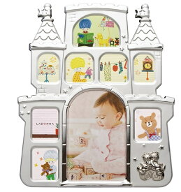 フォトフレーム (はがき×1、ミニサイズ×8) MB56-90/PK/BL/IV ラドンナ お城 写真立て 複数枚 かわいい 子供用 出産祝い LADONNA