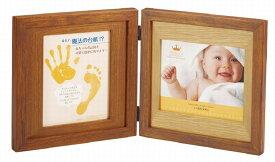 手形フォトフレーム 2Lサイズ ラドンナ CW30-2LD-BR 写真立て 手がた 足がた お誕生記念 ベビー 出産祝い ギフト