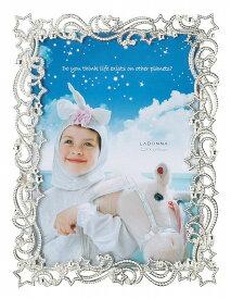 フォトフレーム 2Lサイズ(L判×2) MJ90-2L-SV 流れ星 きらきら クリスタル 写真立て 子供部屋 キラキラ スター ラドンナ LADONNA