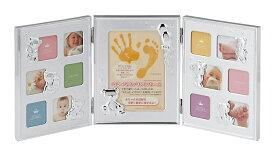 手形フォトフレーム ミニサイズ×12枚 MB68-130 ラドンナ 写真立て 手がた 足がた お誕生記念 メモリアル 出産祝い LADONNA