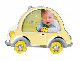 フォトフレーム ミニサイズ MB71-S2 ラドンナ 黄色い車 写真立て 車 乗り物 赤ちゃん 子供 プレゼント 誕生日 プチプレ LADONNA