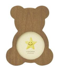 フォトフレーム ミニサイズ LB22-S2-BR/NT ラドンナ かわいい 木製 くま ミニフレーム 写真立て 子供 赤ちゃん 出産祝い 誕生日 LADONNA
