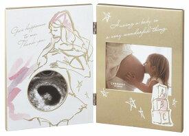 マタニティフレーム(L判×1、ミニサイズ×1) MB91-20-GD/SV ラドンナ エコー写真 サプライズ 写真立て ベビー 赤ちゃん 妊娠 出産 ladonna