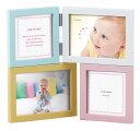 4窓フォトフレーム (L判×2、ミニ×2) LB38-40 ラドンナ パーテーションフレーム カラフル 写真立て 子供 赤ちゃん …