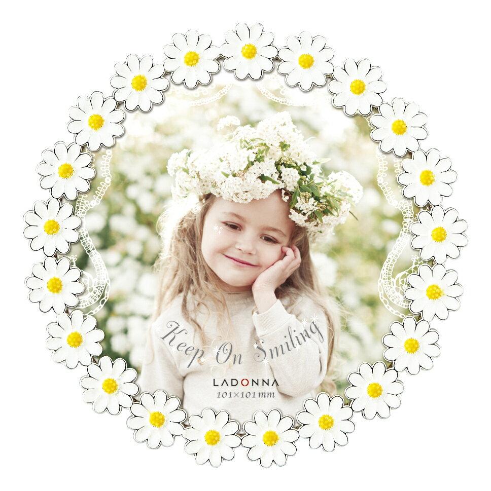 20%OFF フォトフレーム ミニサイズ BJ11-M ラドンナ カモミール 丸型 フラワーフレーム かわいい 小花 プレゼント 写真立て 女の子 LADONNA