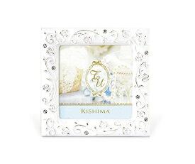 フォトフレーム ミニサイズ ウェディング KP-31242 キシマ バラの模様 かわいい 上品 結婚祝い 白 小さい 写真立て SOPHIE (ソフィー)