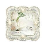 20%OFFミニフォトフレームMJ45-S2-WHラドンナミニサイズ写真立て上品高級感かわいいプレゼント結婚式パールLADONNA