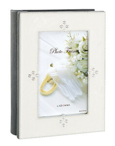 アルバム フォトフレーム はがきサイズ AMJN02-P-WH ラドンナ 80枚 収納フレーム 大容量 ポストカード プレゼント LADONNA 写真 整理 おしゃれ ブライダル ウェディング 記念 花嫁 結婚祝い 高級感