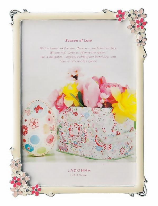 20%OFF 写真立て 2L判サイズ(L判×2) MJ86-2L-PK/YE ラドンナ 小さなお花が可愛いブライダルフレーム 【フォトフレーム・LADONNA・フラワー・ご結婚】
