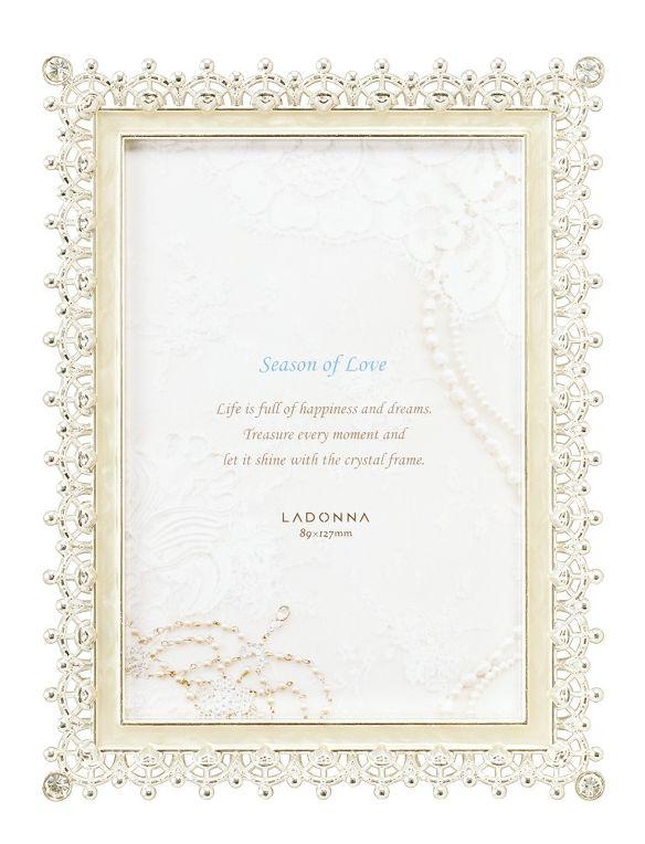 20%OFF フォトフレーム L判サイズ MJ83-L-WH ラドンナ ブライダルにふさわしい美しいフレーム 【写真立て・ブライダル・LADONNA・結婚祝い】