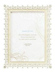 フォトフレーム L判サイズ MJ83-L-WH ラドンナ ブライダル 上品 おしゃれ 写真立て かわいい 結婚祝い 内祝い プレゼント LADONNA