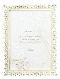 フォトフレーム 2Lサイズ(L判×2) MJ83-2L-WH ラドンナ 写真立て おしゃれ 上品 ブライダル 記念写真 結婚祝い LADONNA