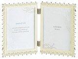 20%OFFフォトフレームL判サイズ×2MJ83-LD-WHラドンナ繊細で可憐な美しいダブルフレーム【写真立て・ブライダル・Lサイズ・LADONNA・結婚祝い】