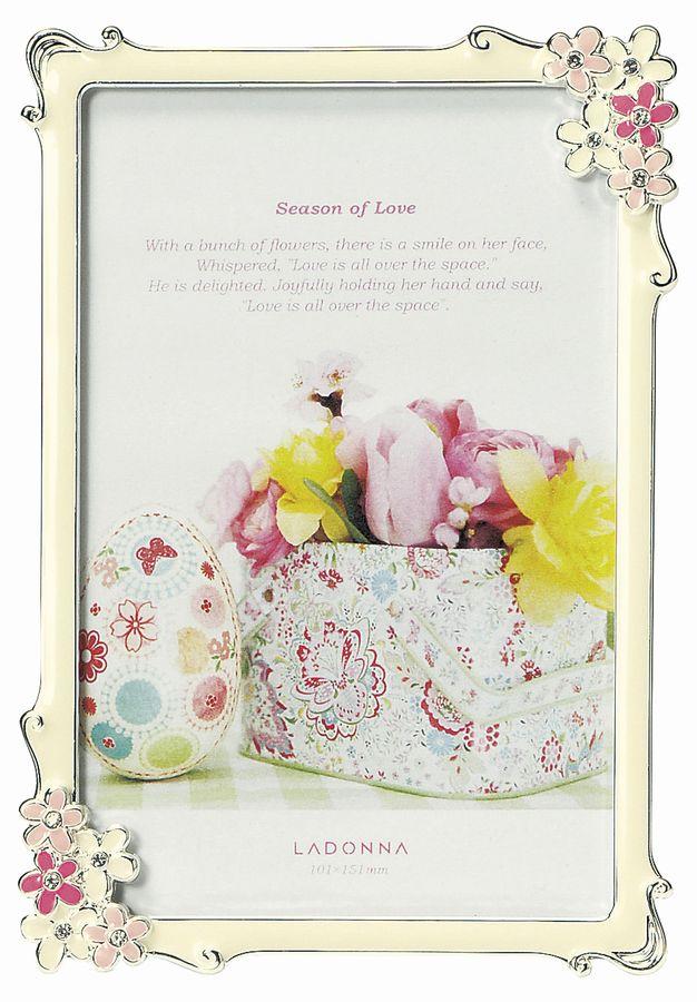 20%OFF 写真立て ハガキサイズ MJ86-P-PK/YE ラドンナ 小さなお花が可愛いブライダルフレーム 【フォトフレーム・LADONNA・ポストカード判・ご結婚】