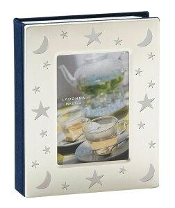 アルバム フレーム L判サイズ ASS5-S-SV 透かし模様 40枚 収納型フォトフレーム 写真立て Lサイズ プレゼント 大容量 ラドンナ LADONNA 写真 整理 月 星 スター ギフト お祝い 記念品 シルバー