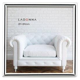 フォトフレーム SK1-SQ スクエア 正方形 シンプル シルバー 写真立て 89×89 ましかく おしゃれ ラドンナ LADONNA