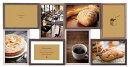 フォトフレーム 8窓 L判×8枚 DF95-80 ラドンナ ナチュラル 写真立て 壁掛け おしゃれ 男性 プレゼント 複数枚 木製 LADONNA