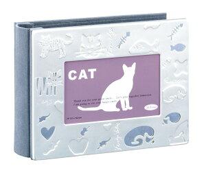 猫用 アルバムフレーム ハガキサイズ 100枚 APT4-P-CA ラドンナ 大容量 はがき ペット ネコ プレゼント おすすめ LADONNA ポストカード 猫 写真 フォトフレーム アルバム 愛猫 記念 思い出 記録 成