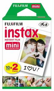 チェキ用フィルム 富士フィルム FUJIFILM フジ インスタックス ミニ 2本入 20枚 パック インスタント カードサイズ