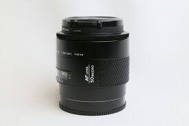 【中古】MINOLTA ミノルタ AF 50ミリ マクロF2.8 オートフォーカスレンズ 接写用レンズ 花の撮影に最適